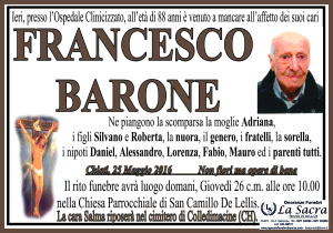 lutto barone francesco