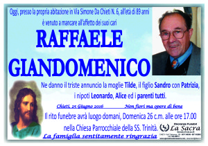 lutto giandomenico