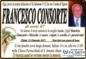 lutto consorte francesco