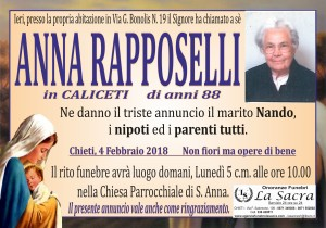 lutto anna rapposelli